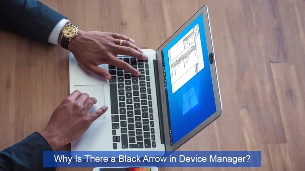 Prečo je v Správcovi zariadení čierna šípka? 1
