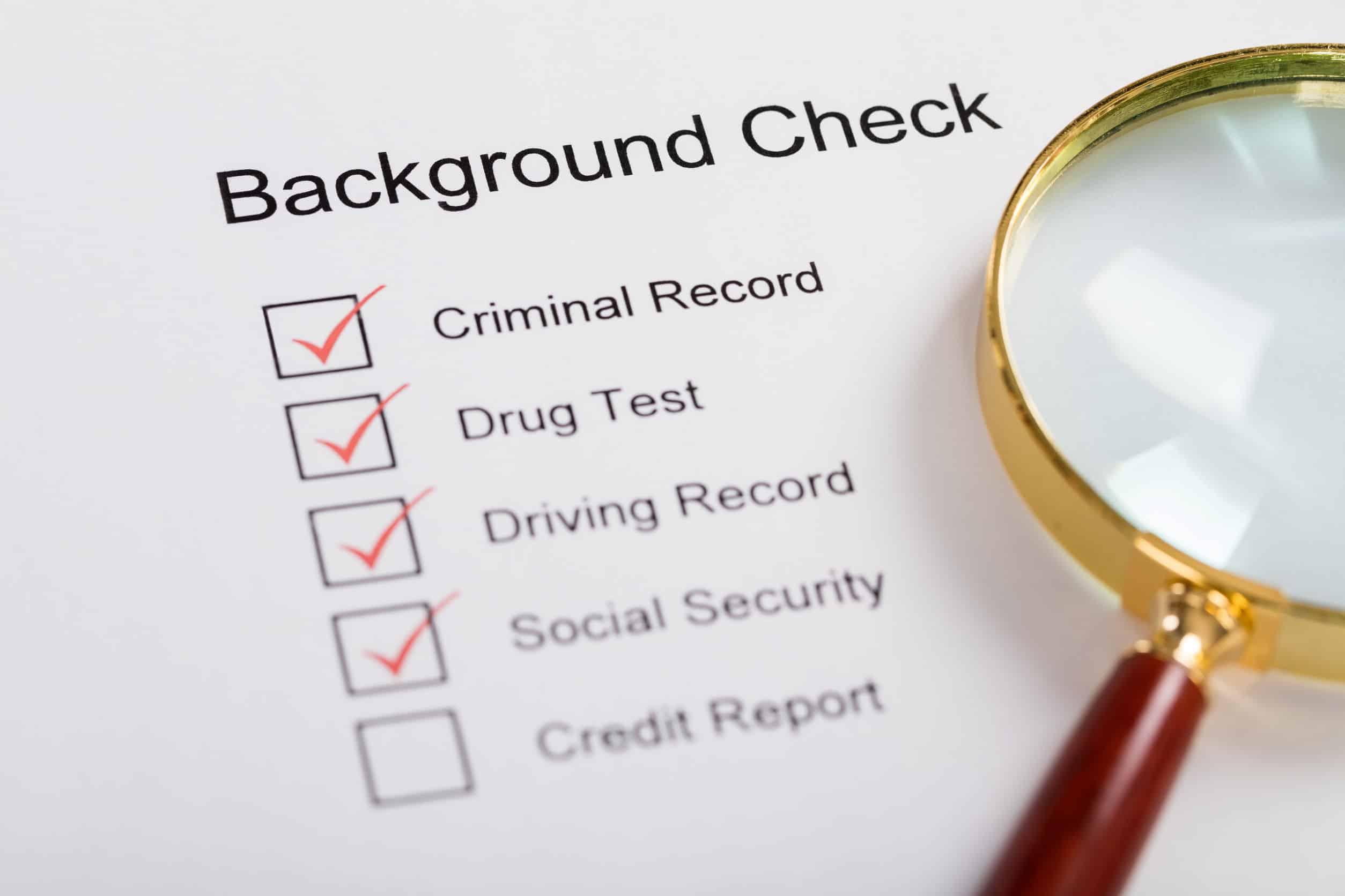 Một kiểm tra lý lịch cho một chương trình công việc là gì?