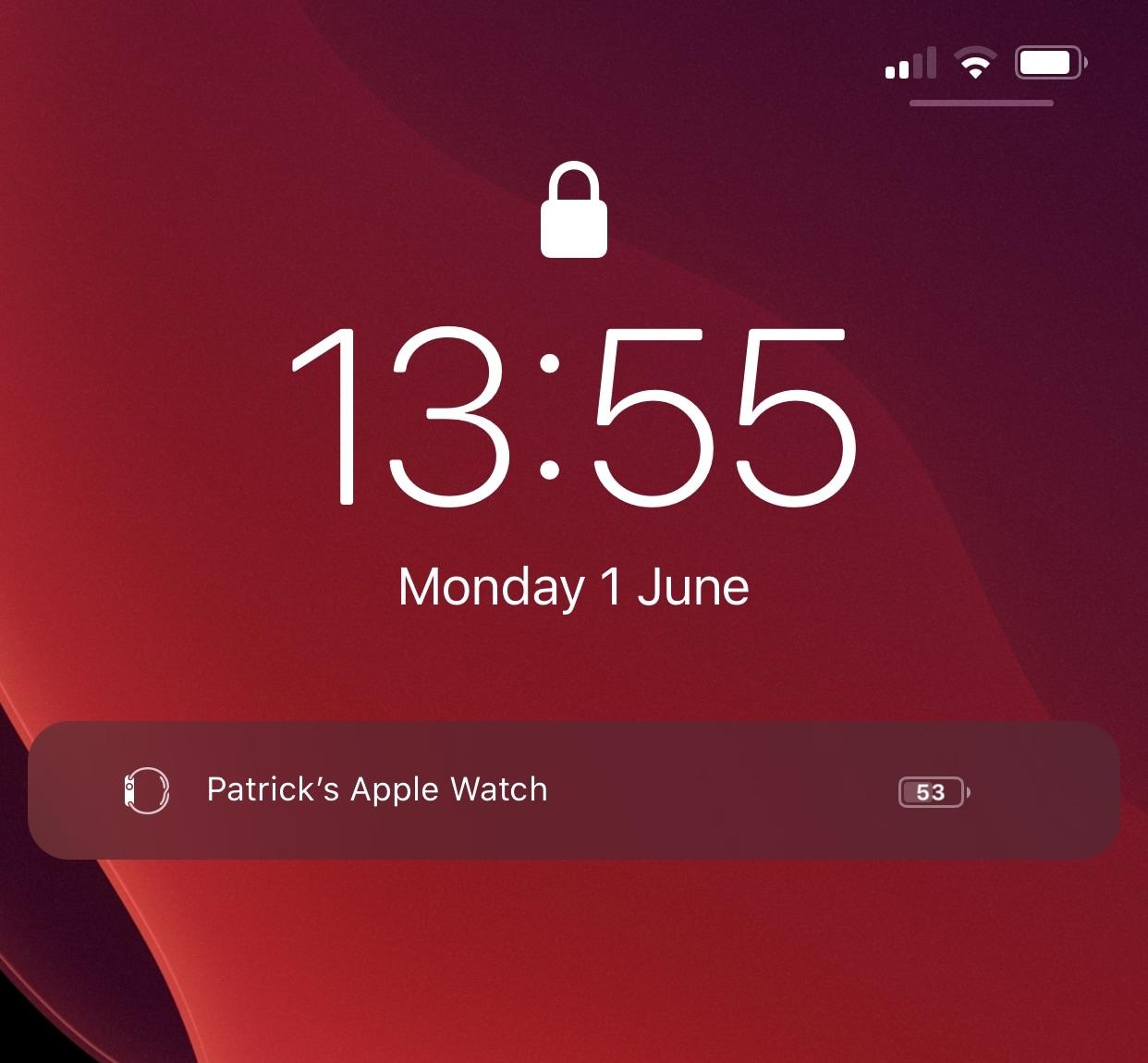 WatchBuddy là một người kiên trì Apple Watch phụ tùng pin cho màn hình khóa iPhone của bạn 1