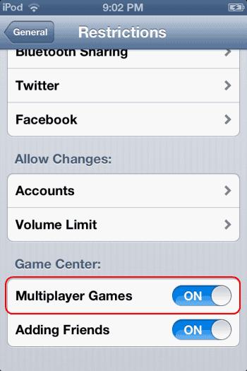 """iPhone a iPad: Oprava """"Multiplayer nie je k dispozícii - na tomto zariadení nemusíte hrať hry pre viacerých hráčov"""" 1"""