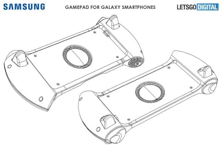 Spoločnosť Samsung môže spustiť aj gamepad smartphones: tu je patent 3