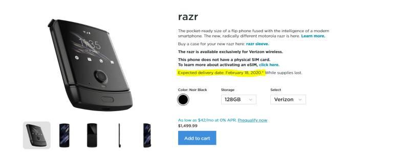 Motorola RAZR 2019 je opäť neskoro 2