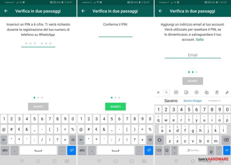 WhatsApp, hur man aktiverar tvåstegsverifiering 4