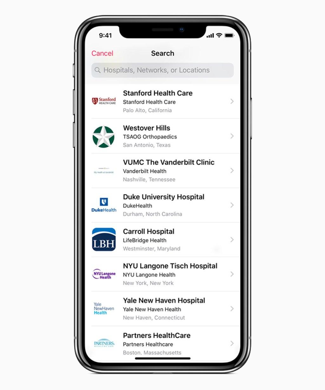 iOS 11 3 vyhľadávacia obrazovka výrobcu zdravotníctva 03292018