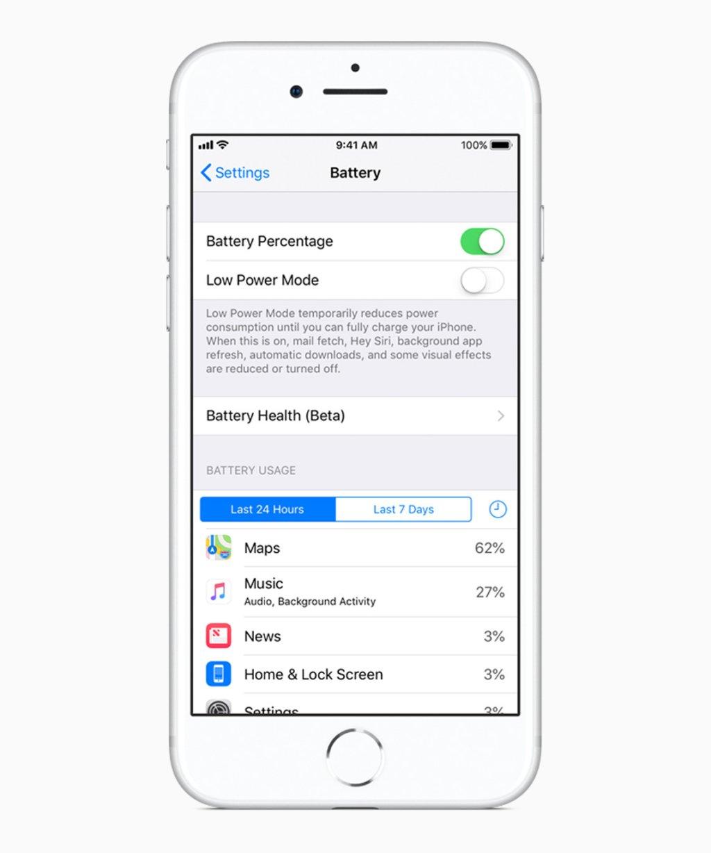 Apple    iOS 11 3 obrazovka stavu batérie 03292018