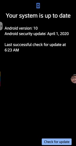 T Mobile LG G8 ThinQ Apríl Zabezpečenie 2020