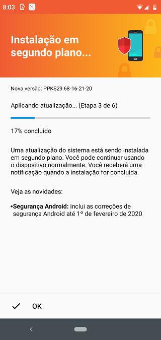 Spoločnosť Motorola One získala v Brazílii záplatu z februára 2020: PPKS29.68-16-21-20
