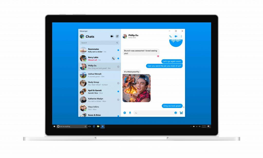Facebook Ak chcete prepracovať jeho aplikáciu, spustite ju Messengeraplikácia pre stolné počítače a ďalšie! 5