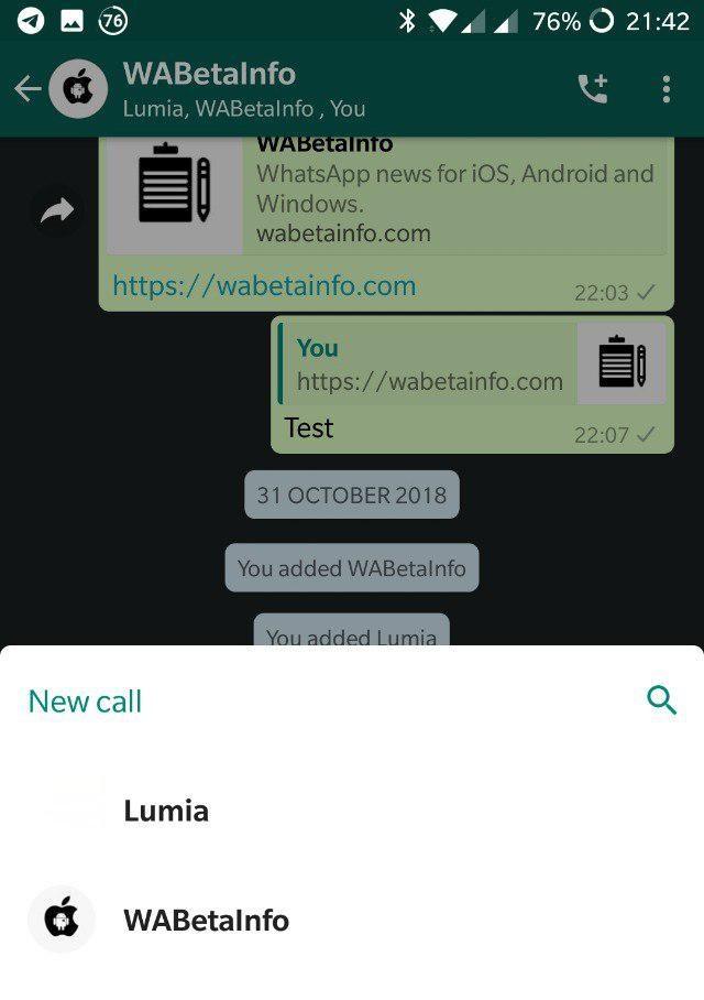 WhatsApp v2.18.363 zahŕňa skupinové hovory