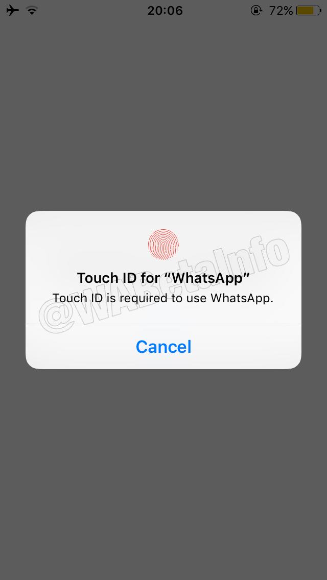 Podpora aplikácií Face ID a Touch ID pre WhatsApp bude čoskoro k dispozícii na iOS 2