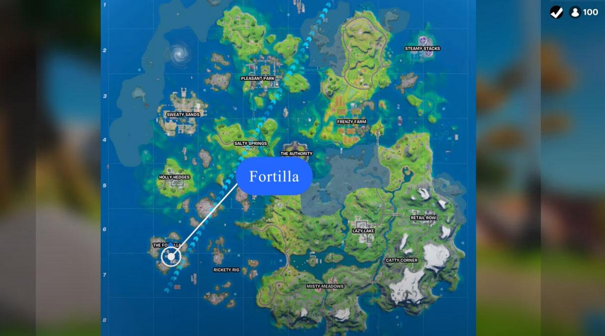 Kde nájdete oceán v Fortnite kapitola 2 sezóna 3 2