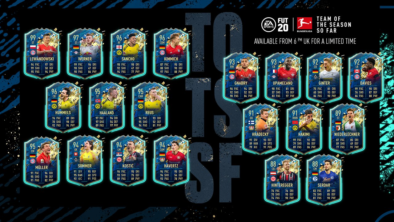 Ako dokončiť Bundesliga TOTSSF Garantovaná SBC v FIFA 20