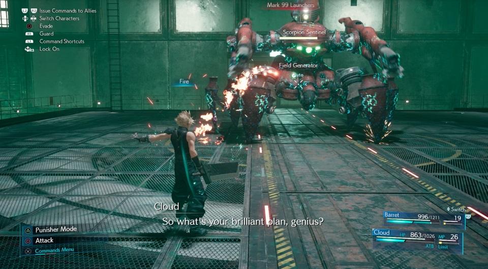 Ako poraziť Scorpion Sentinel v Final Fantasy 7 prerobiť 2