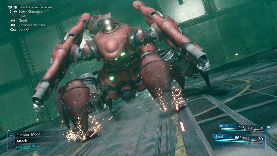 Ako poraziť Scorpion Sentinel v Final Fantasy 7 prerobiť 3