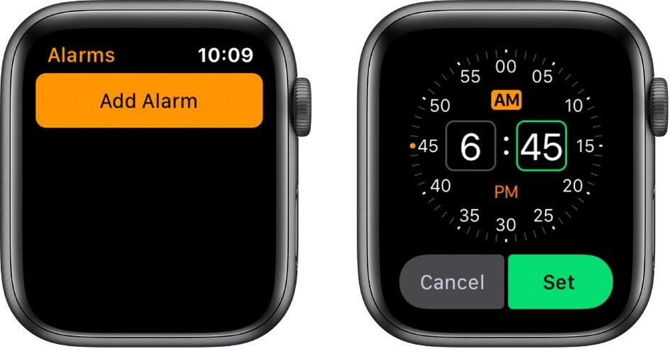 Zapnite budík Apple Watch