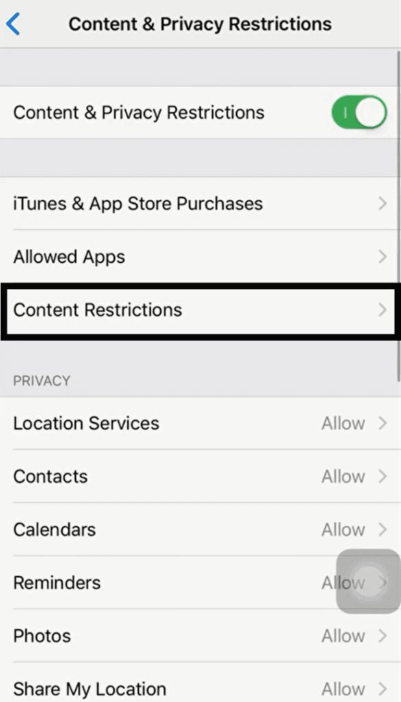 Ako zabránim vulgárnemu obsahu, obsahu pre dospelých alebo explicitnému obsahu v telefóne iPhone alebo iPad? 5