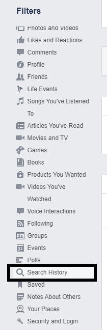 Ako odstrániť históriu vyhľadávania na Facebook 7