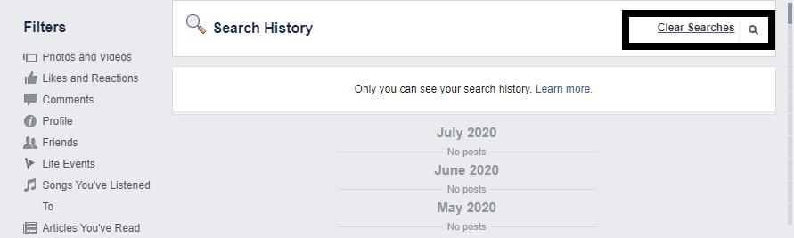 Ako odstrániť históriu vyhľadávania na Facebook 8