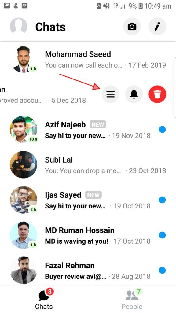 Hur man markerar a Facebook Meddelande som oläst eller osynligt? 6