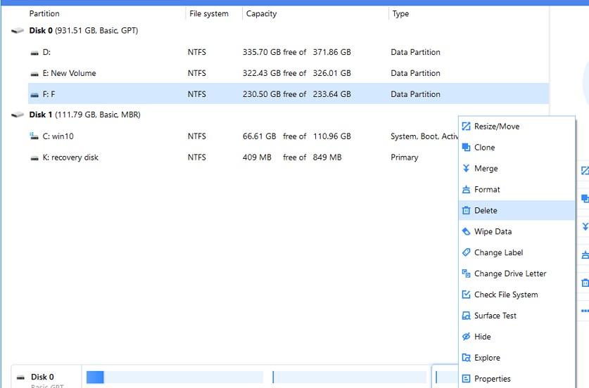 Ako odstrániť systémový oddiel na Windows 10 5