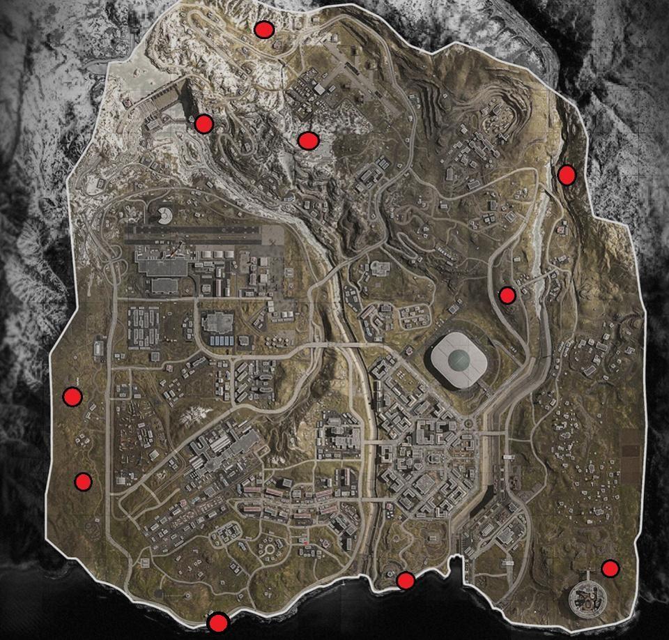 Stránky Bunkerov v Call of Duty: Warzone