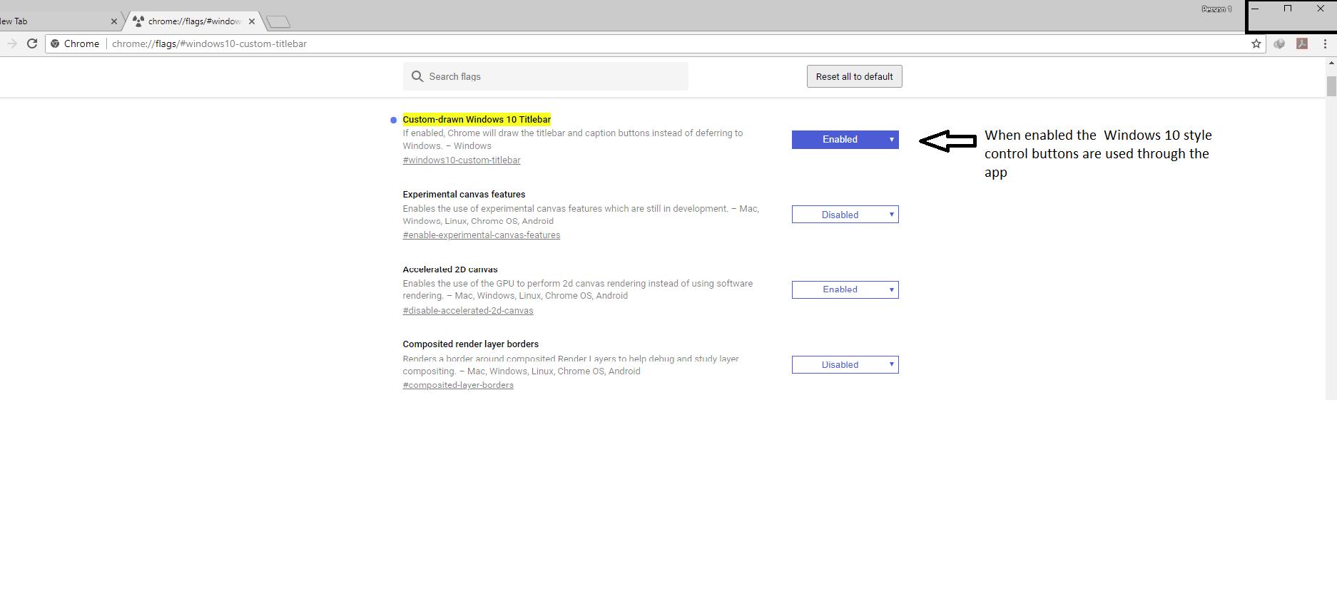 Prispôsobte si nadpisové polia prehliadača Google Chrome podľa motívov Windows 10