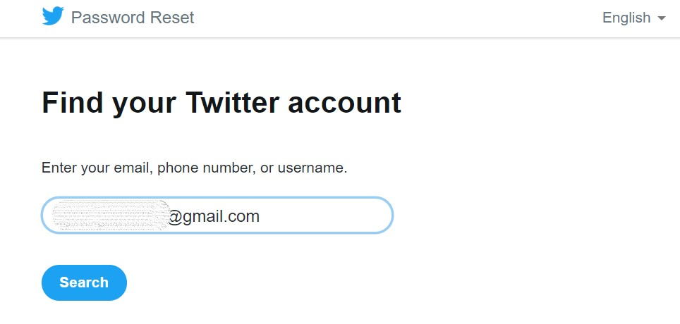 Nájdite svoje Twitter účet