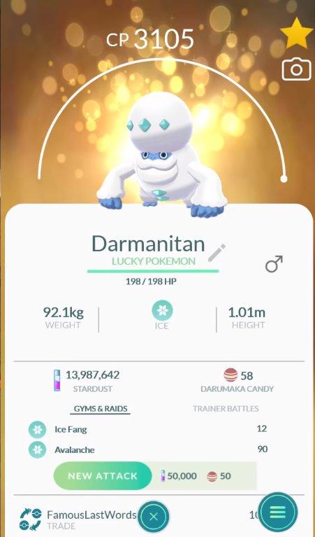 Najlepší návrh pre Galarian Darmanitan v roku 2007 Pokémon go 2
