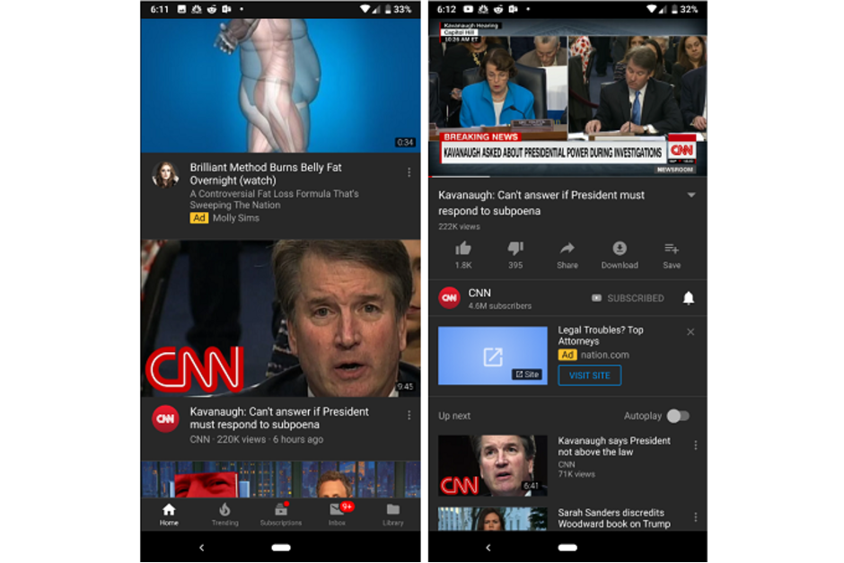 Tmavý režim pre telefóny s Androidom pre Android YouTube je konečne tu