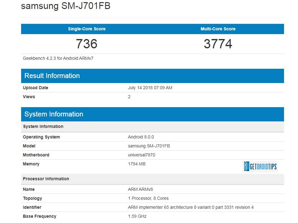 Galaxy    J7 Nxt Android 8,0 Aktualizácia Oreo