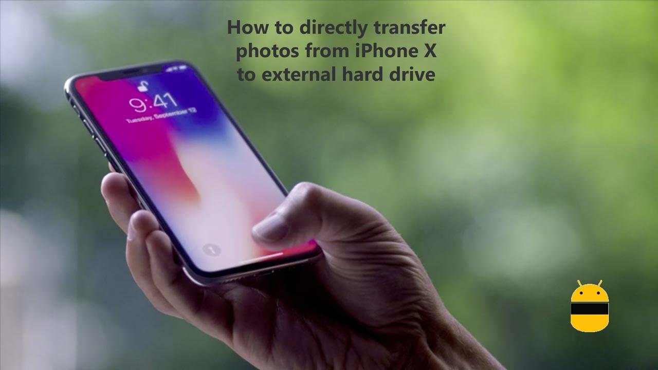 Ako priamo prenášať fotografie z iPhone X na externý pevný disk 1