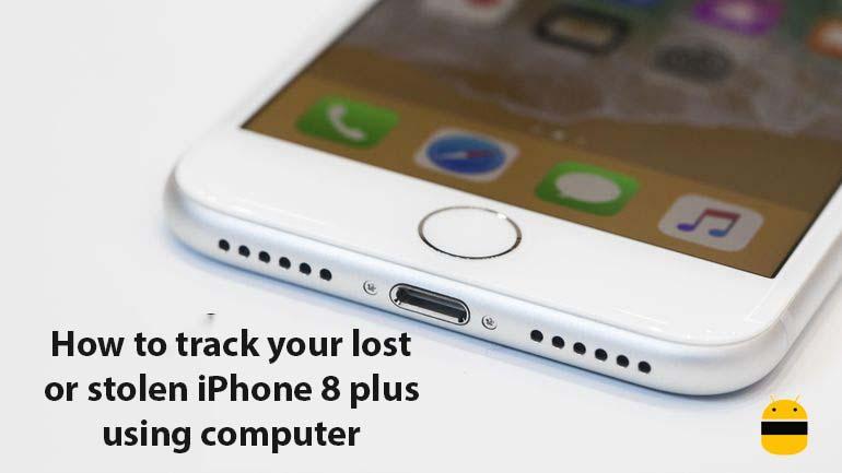 Ako sledovať stratený alebo ukradnutý iPhone 8 plus pomocou počítača 1