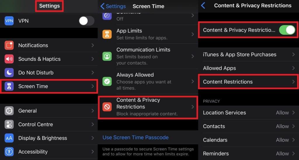 Ochrana obsahu a obmedzenia