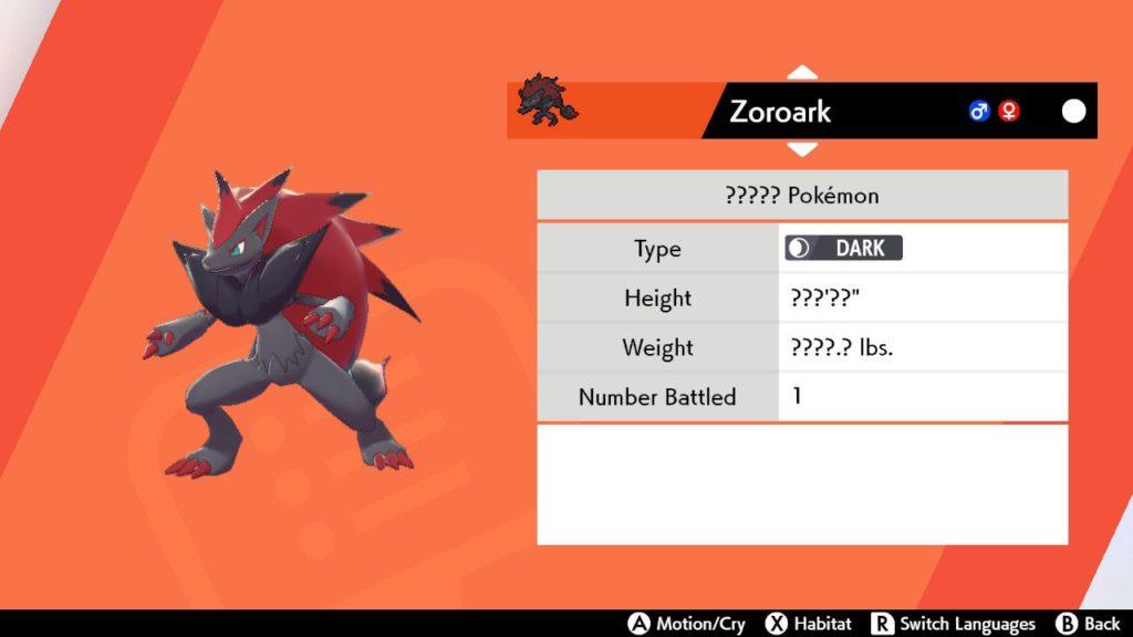Ako sa dostať do Zoroarku Pokémon Brnenie meča a štítu