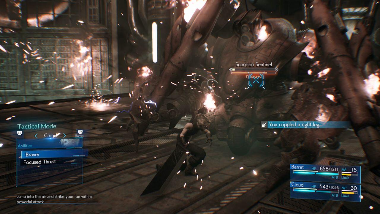 Ako poraziť Scorpion Sentinel v Final Fantasy 7 prerobiť