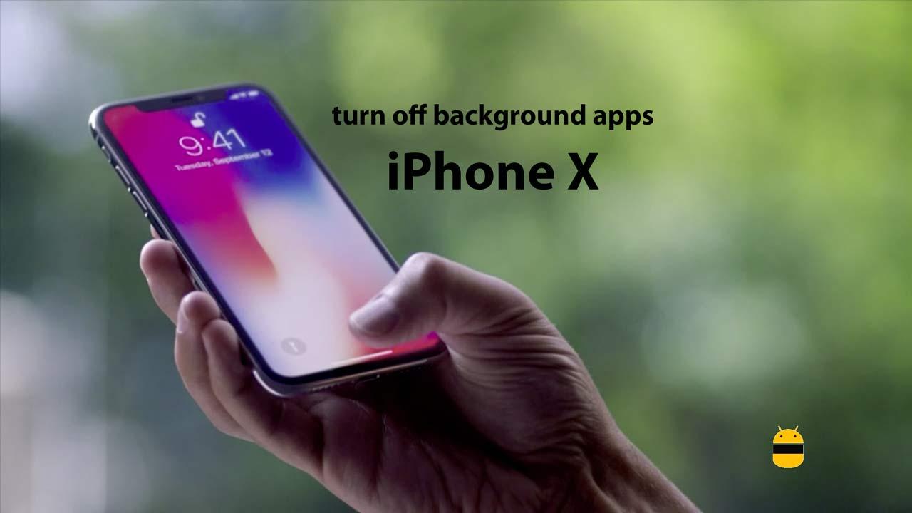 Ako vypnúť aplikácie na pozadí na iPhone X 1