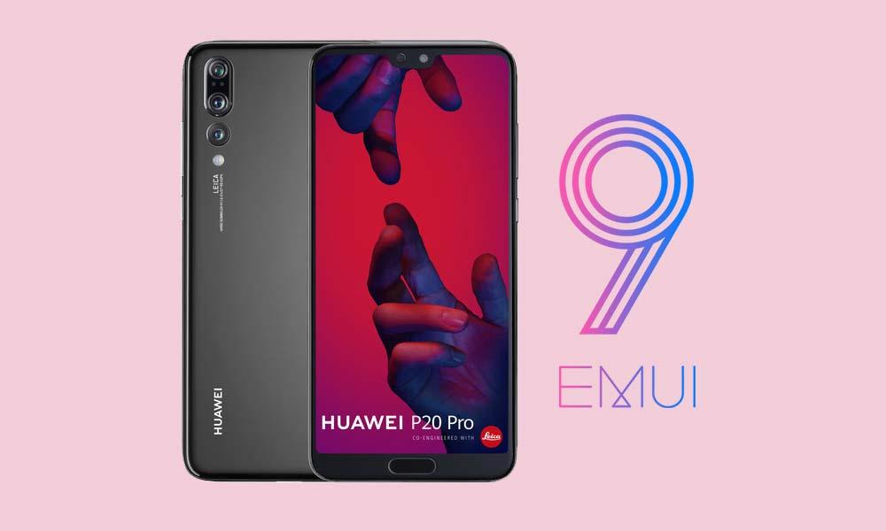 Stiahnite si Huawei P20 Pro EMUI 9,1 s opravou z júla 2019 založenou na systéme Android Pie 1
