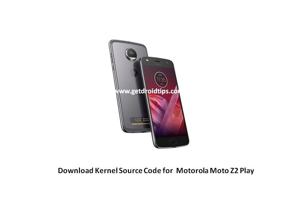 Kľúčový zdrojový kód Moto Z2 Play je teraz oficiálne dostupný 1