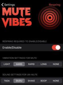 vylepšiť iphone mutevibes