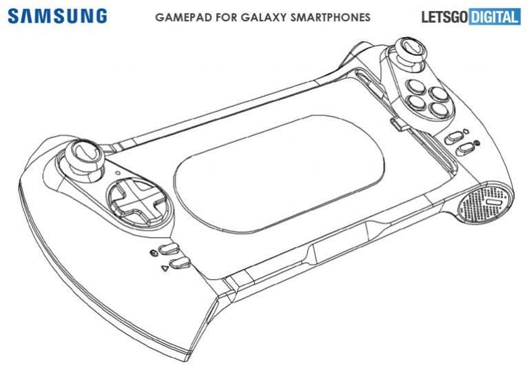 Spoločnosť Samsung môže spustiť aj gamepad smartphones: tu je patent 1