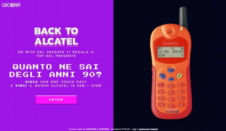 Tillbaka till Alcatel: tävlingen som tar dig tillbaka till de legendariska 90-talet 1