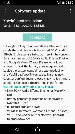 XPERIA X získa Sony Audio Effects Engine, nový indikátor stavu batérie v najnovšej aktualizácii !! 2