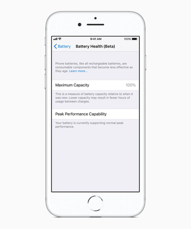 Apple    iOS 11 3 monitor stavu batérie 03292018