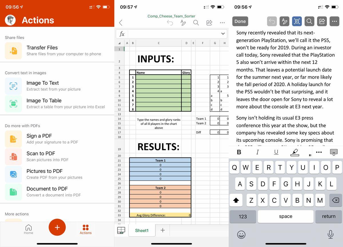 O novo aplicativo Office da Microsoft para iOS e Android combina Word, Excel e PowerPoint 2