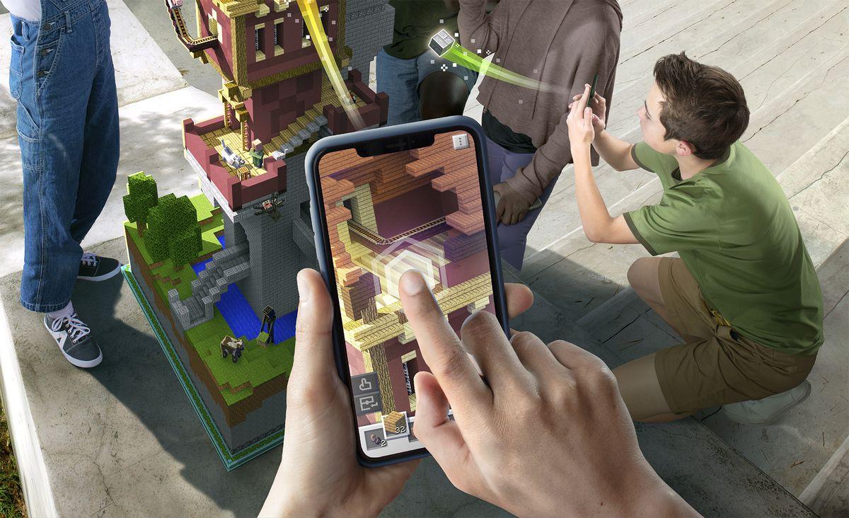 Minecraft Earth vai um passo além do Pokémon Go para cobrir o mundo em blocos 8