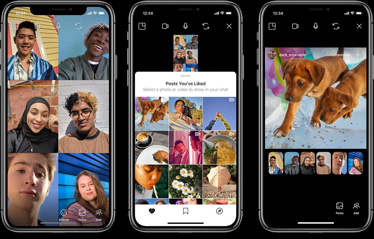 Instagram permitirá que você navegue em postagens com amigos por bate-papo por vídeo para promover o distanciamento social 2