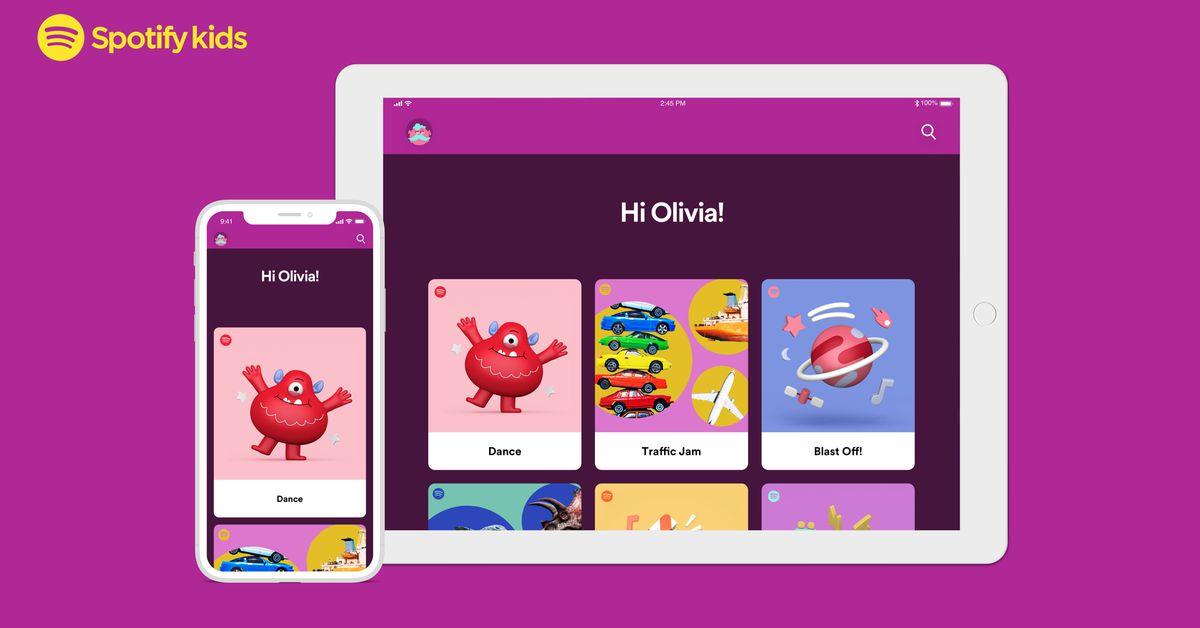 Spotify lança um aplicativo Kids dedicado, com listas de reprodução selecionadas e arte lúdica