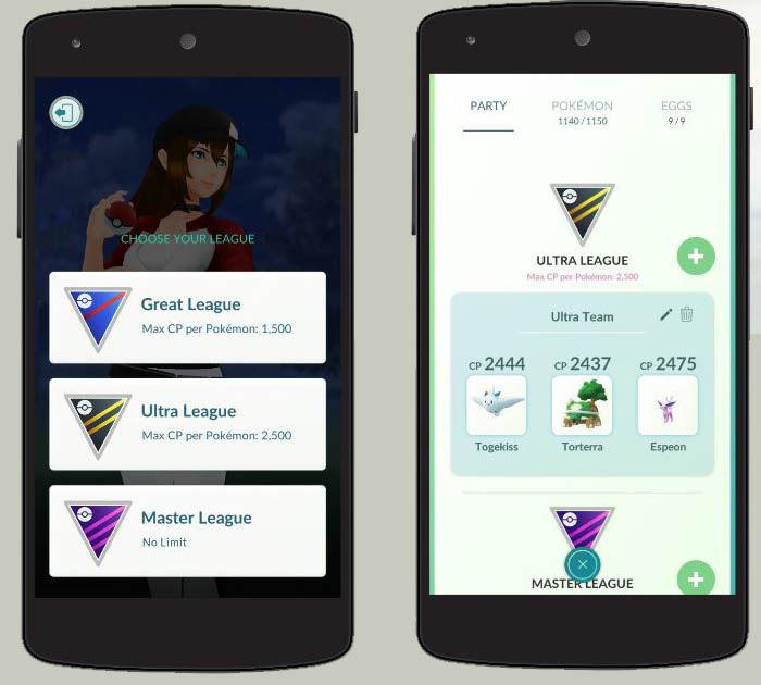 pokemon go league