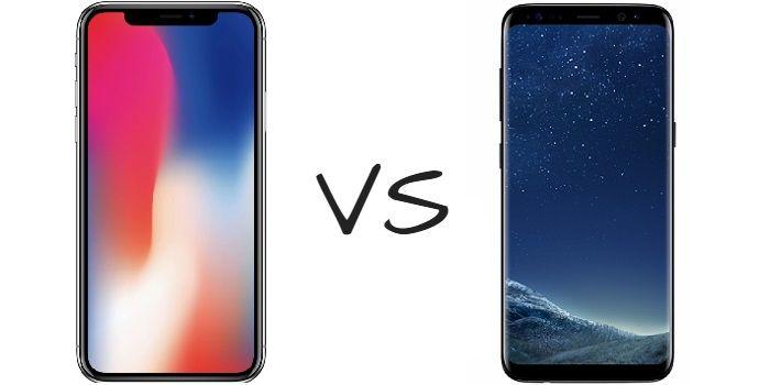 iPhone X vs Galaxy S8: Comparação de duas bestas com força total