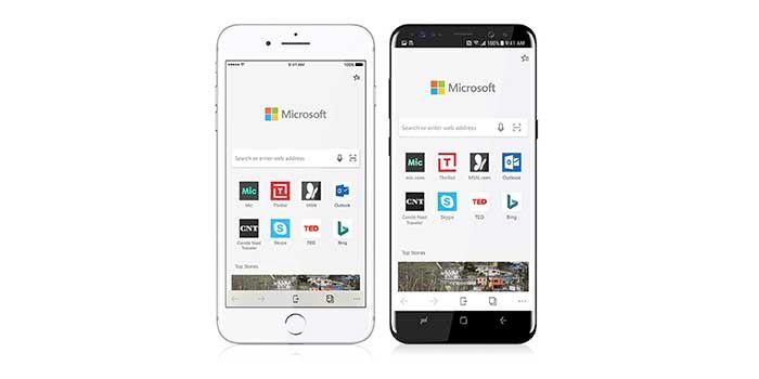 Microsoft Edge Mobiel para Android e iOS